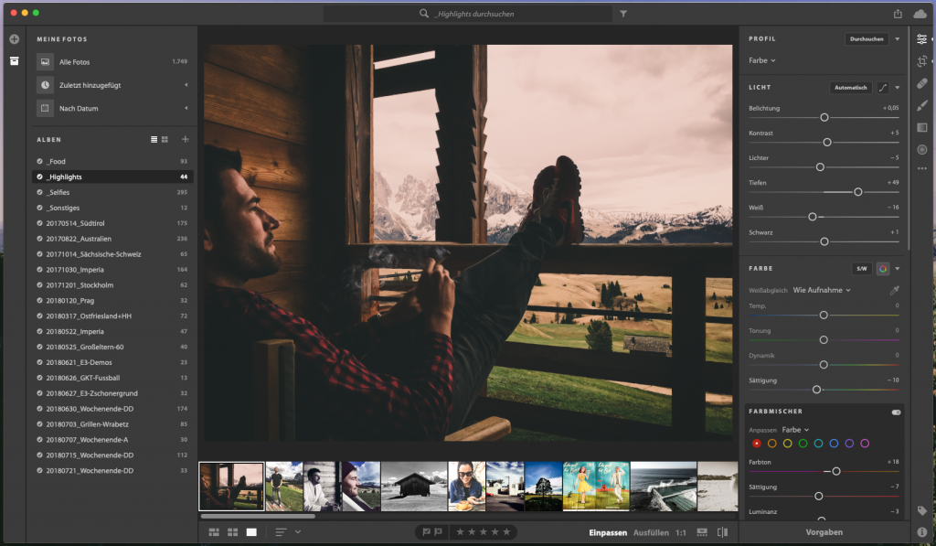 Adobe Lightroom CC auf MacOS (Mojave)