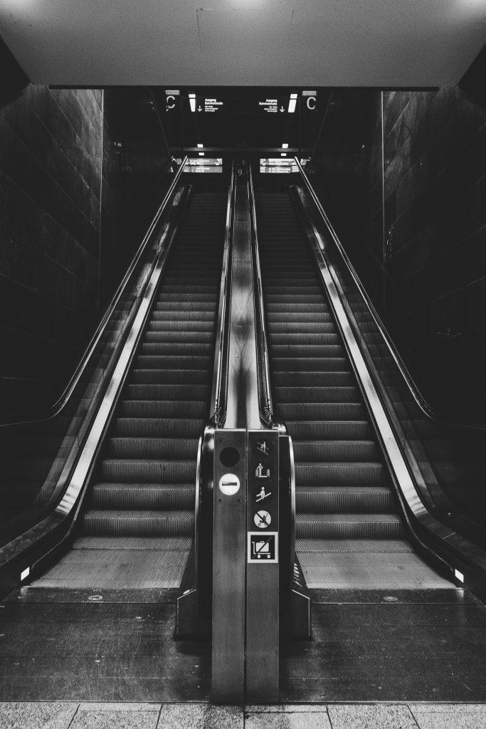 Die Rolltreppe.