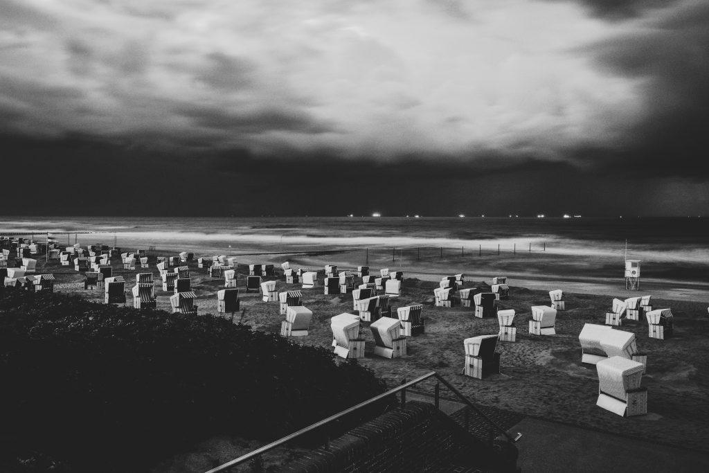 Wangerooge / Strans bei Nacht